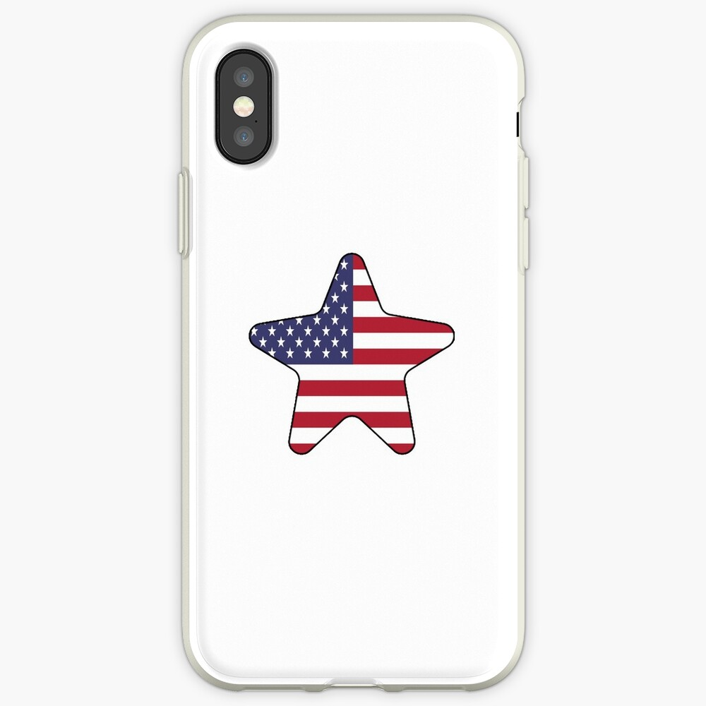 American Flag Starfish Happy 4th of July Funda y vinilo para iPhone