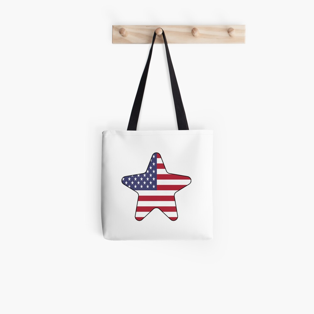American Flag Starfish Happy 4th of July Bolsa de tela