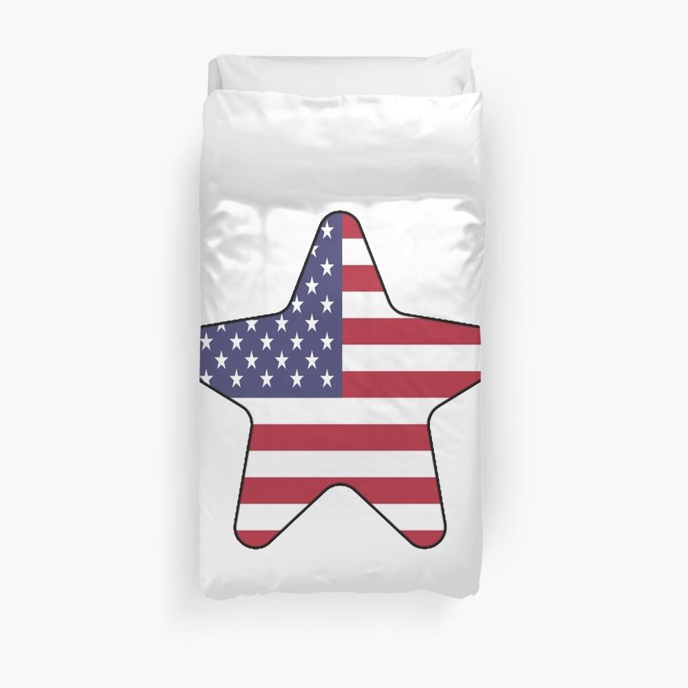 American Flag Starfish Happy 4th of July Funda nórdica