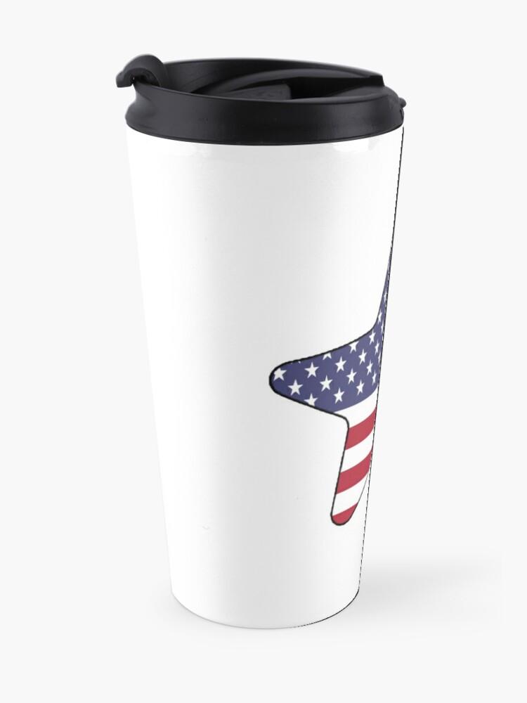 Vista alternativa de Taza de viaje American Flag Starfish Happy 4th of July
