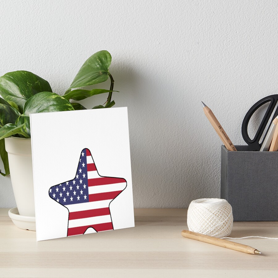 American Flag Starfish Happy 4th of July Lámina rígida