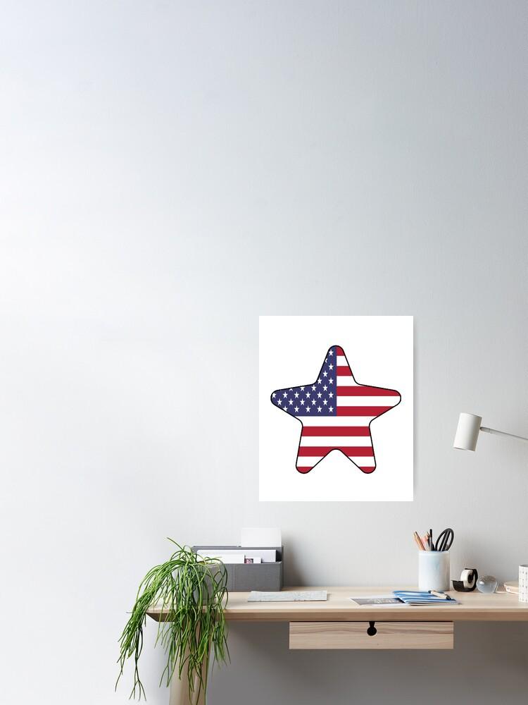 Vista alternativa de Póster American Flag Starfish Happy 4th of July