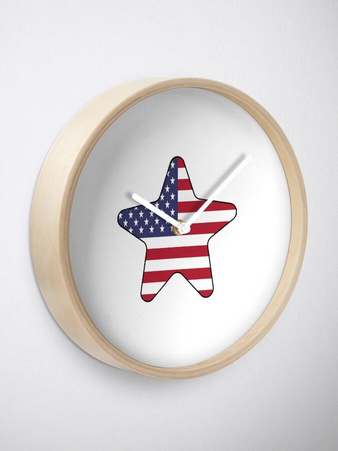 Vista alternativa de Reloj American Flag Starfish Happy 4th of July