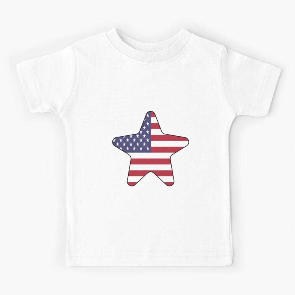 American Flag Starfish Happy 4th of July Camiseta para niños
