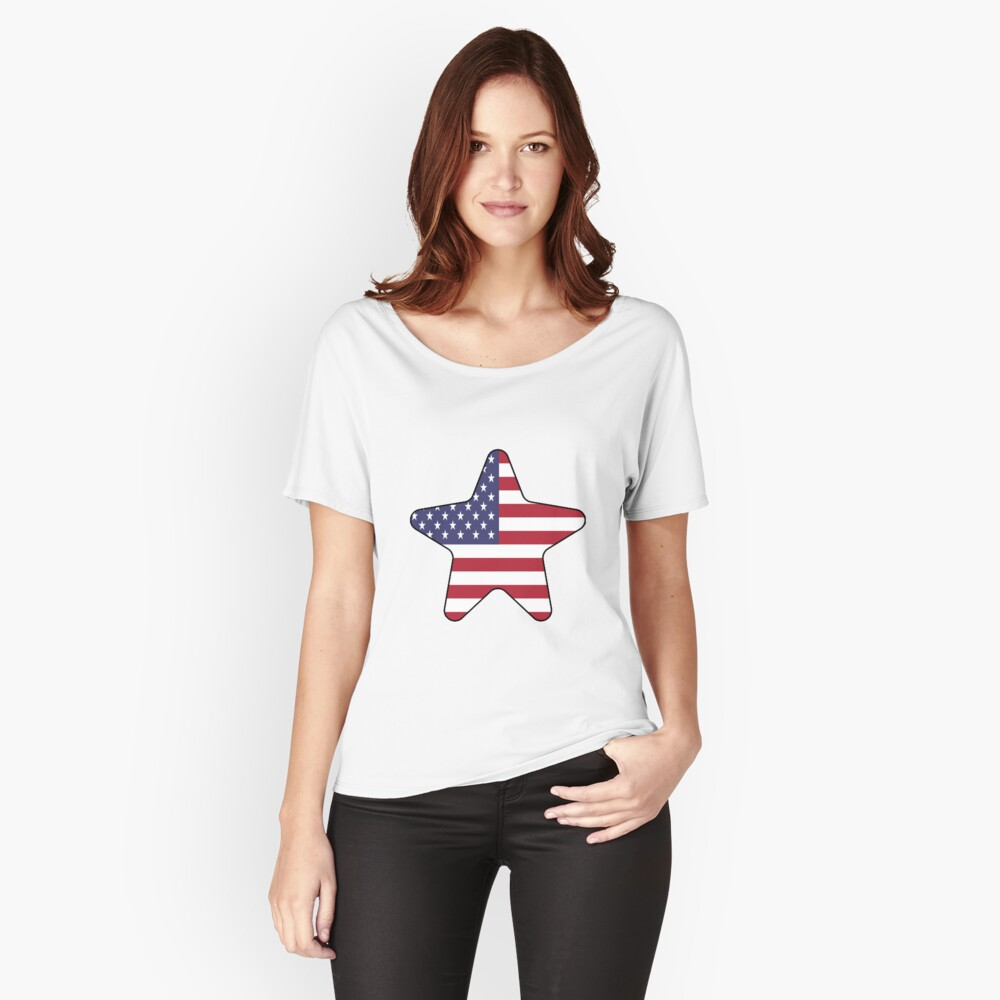 American Flag Starfish Happy 4th of July Camiseta ancha