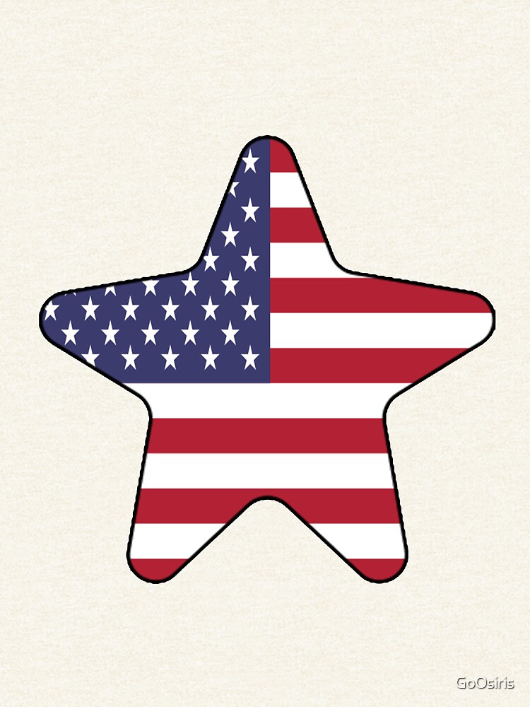 American Flag Starfish Happy 4th of July de GoOsiris