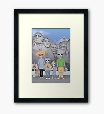 Mount Rushmore Summer Vacation  Framed Print