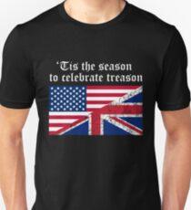 Lustiger Verratstag 4. von britischem Unabhängigkeitstag-Juli Slim Fit T-Shirt