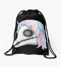 My Little Dead Unicorn | Rainbow Unicorn Skull | Black Drawstring Bag