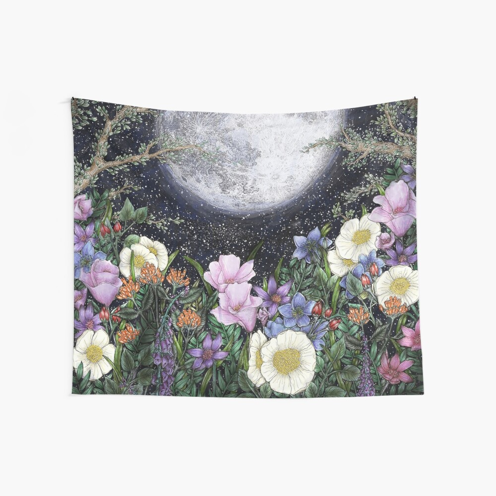 Midnight in the Garden II Wall Tapestry