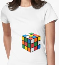 Rubix Cube Women's Fitted T-Shirt
