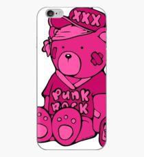 Punk Rock Teddy Bear - Pink - Max the Teddybär Coque et skin iPhone