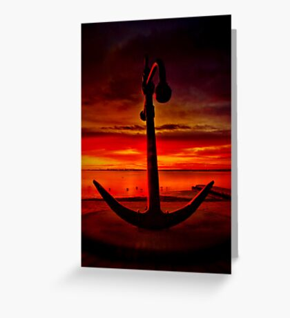"""""""The Anchor Holds"""" Greeting Card"""