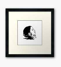 Beautiful woman Illustration Framed Print