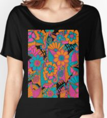 Abstract Floral Pattern Women's Relaxed Fit T-Shirt