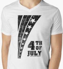 4th of July Independence Day Men's V-Neck T-Shirt