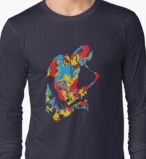 Saxophone Musician Modern  Paint Style Long Sleeve T-Shirt