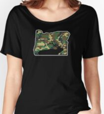 Oregon Elk Camo Hunting Women's Relaxed Fit T-Shirt
