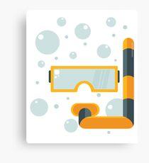 Snorkeling - holiday - summer design Canvas Print
