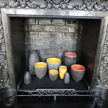 Colourful Ceramics in Fireplace by CreativeEm