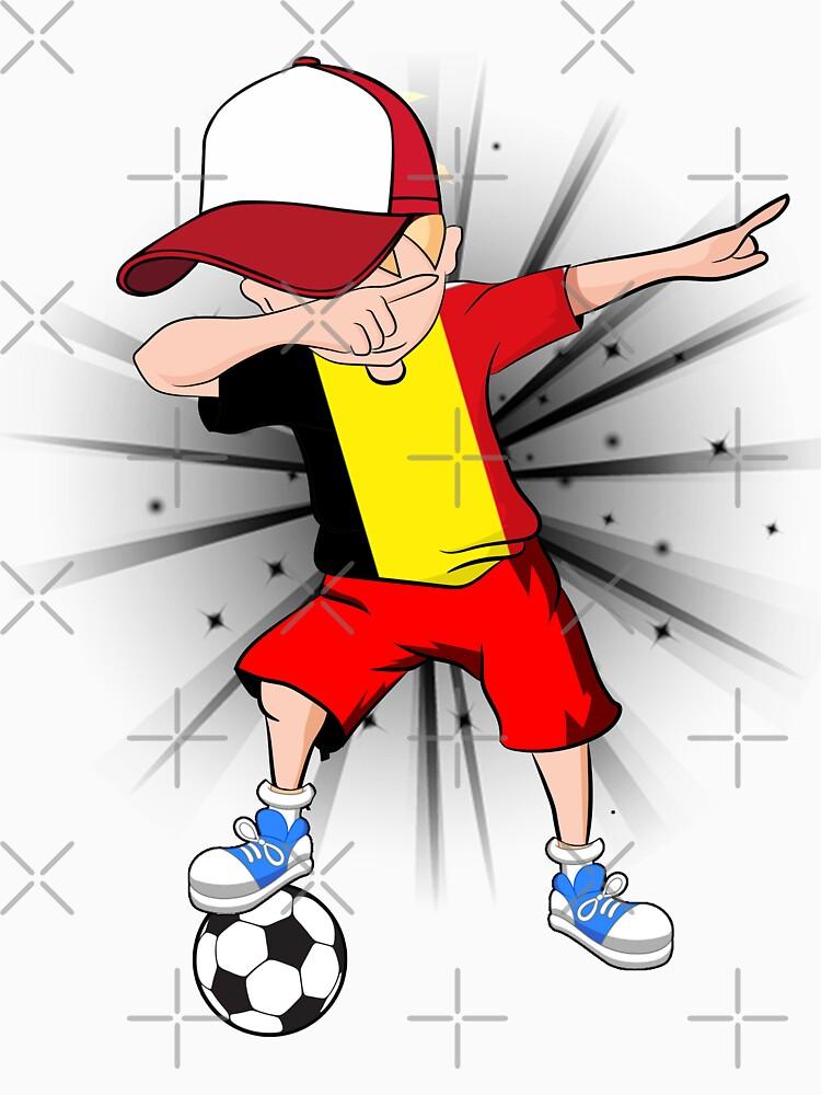 7e957d4ddd1 Dabbing Soccer Boy Belgium Jersey Shirt - Belgian Football by james-nguyen