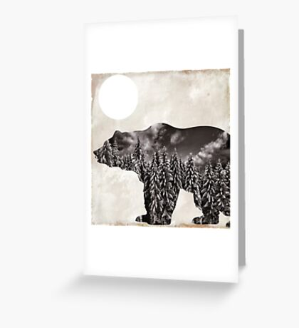 Going Wild Bear Greeting Card