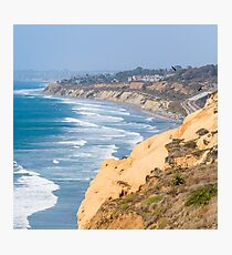 California Cliffs in San Diego Photographic Print