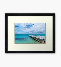 Electric blue beaches in Montego Bay Framed Print