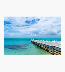 Electric blue beaches in Montego Bay Photographic Print