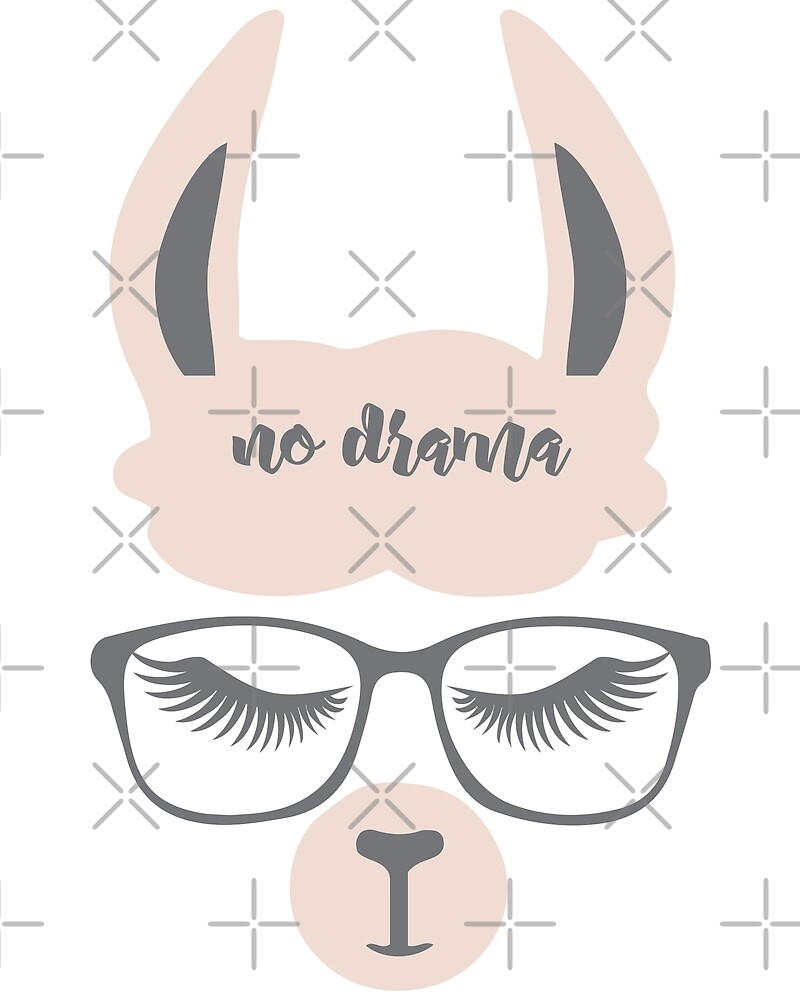Hipster NO Drama Llama by IconicTee