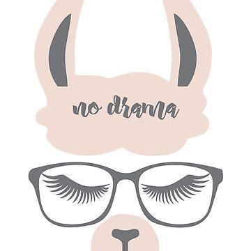 Hipster NO Drama Llama by IconicTee