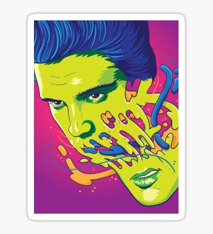 Happily melting Elvis Sticker