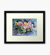 Pink flowers Framed Print