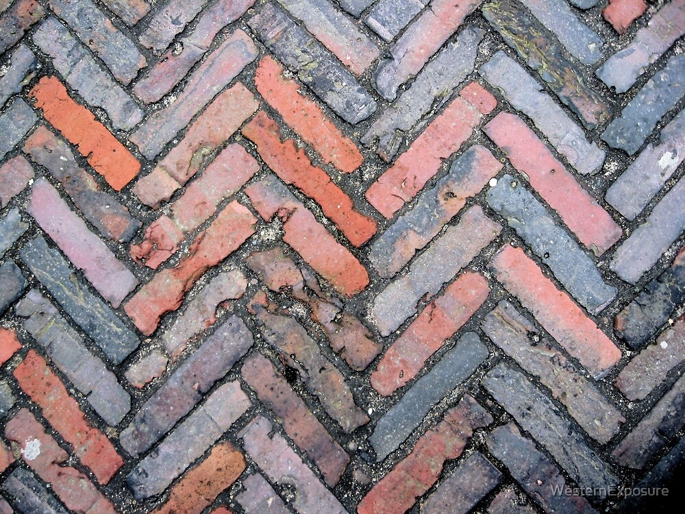 brickwork fishbone pattern by westernexposure redbubble