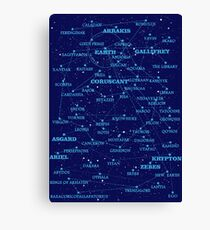Sci-fi star map Canvas Print
