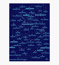 Sci-fi star map Photographic Print