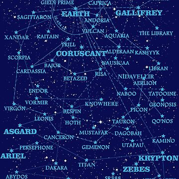 Sci-fi star map by silentrebel