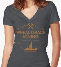 Wheal Grace Mining - Copper Women's Fitted V-Neck T-Shirt
