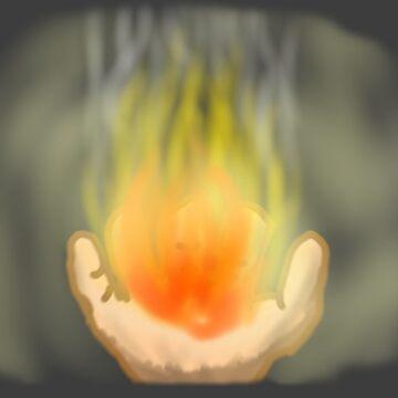 Fire on the Palm by anasazmi571