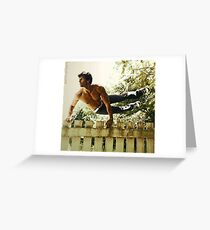 Fence Hopping Greeting Card