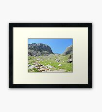 The Lake District: Looking up to Scafell Framed Print