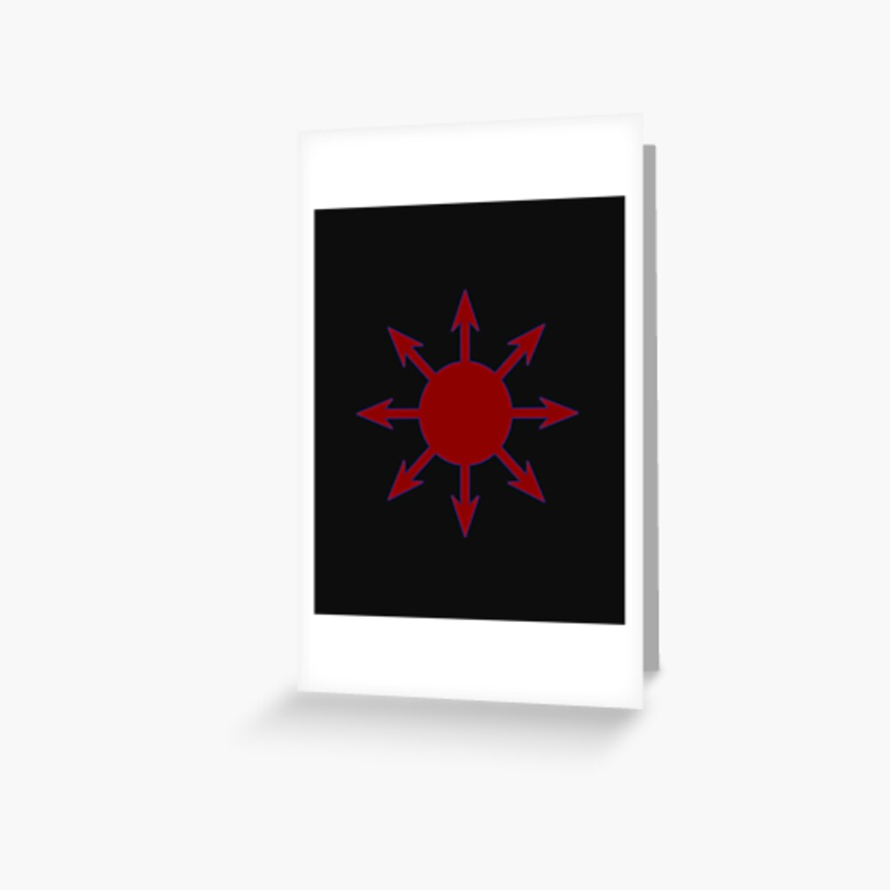 """""""chaos magic chaos star chaosphere occult symbol"""" greeting"""