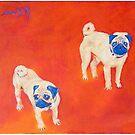 Maiko & Oskar - Pugs by eolai