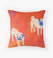 Maiko & Oskar - Pugs Throw Pillow