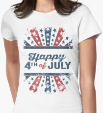 Happy 4th of July Independence Day Women's Fitted T-Shirt