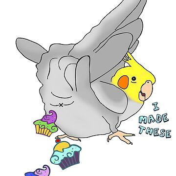 I MADE THESE - cockatiel - cupcakes by FandomizedRose