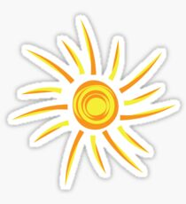 Sun Outline Sticker