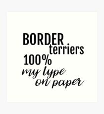 Personalised 100% My Type On Paper Gifts for Dog Lovers ~ Dog Breeds Art Print