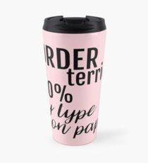 Personalised 100% My Type On Paper Gifts for Dog Lovers ~ Dog Breeds Travel Mug