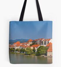 Maribor city embankment Tote Bag